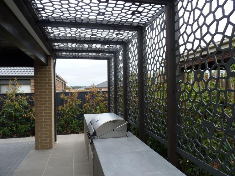 Salon De Jardin Aluminium Et Composite | 125-160cm Round ...