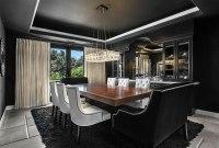 Dco salle  manger noire - atmosphre style et dramatique