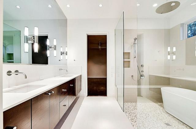 Meuble salle de bains bois carrelage et dco en 105 ides
