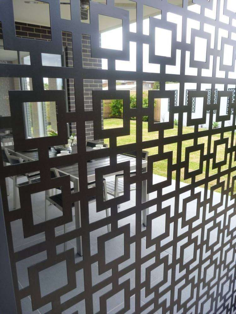 Design Exterieur Jardin Deco Panneau Occultant Cloture Metal