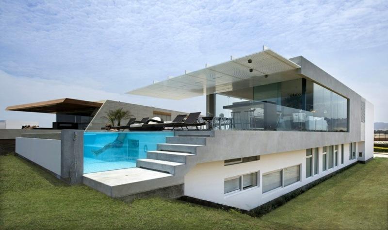 L'architecture Moderne D'une Maison Près De La Plage à Pérou