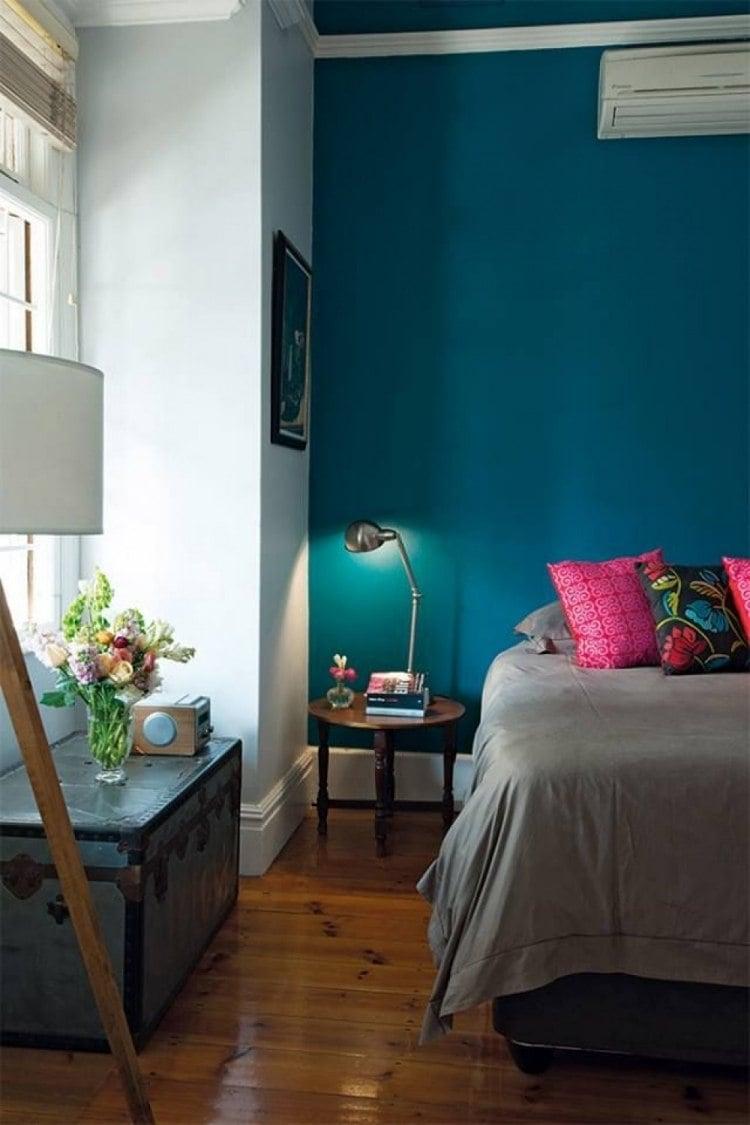Couleur de peinture 2015  le bleu ptrole le vert canard et le sarcelle fabuleux