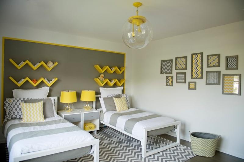 Dcoration intrieur invitez le jaune et le gris dans l espace