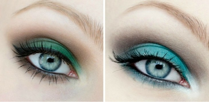 idees-maquillage-ete-nuance-vert-turquoise-mascara-crayon idées maquillage