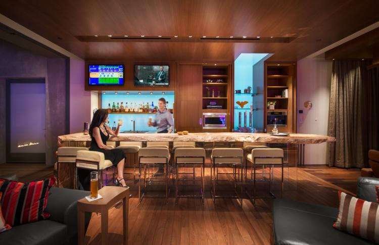 Intrieur maison de luxe  oasis du dsert  Las Vegas