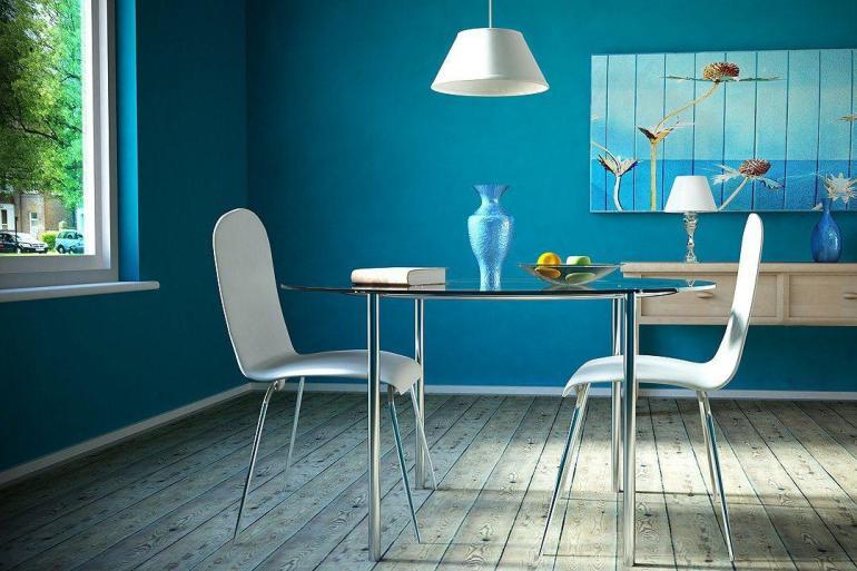 Dcorer les murs dune peinture turquoise  38 ides dt