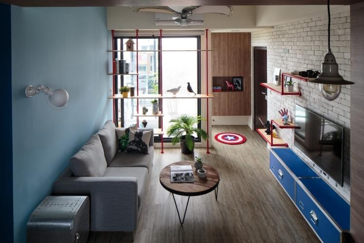 Table basse bois massif dans le salon en 55 designs supers
