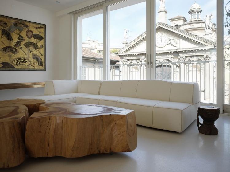 Table Basse Bois Massif Dans Le Salon En Designs Differents
