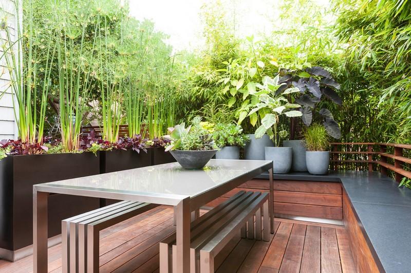 Amnagement petit jardin dans larrirecourides modernes