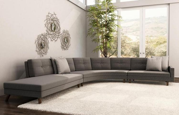 Dco salon gris avec canap tout confort 55 ides pour vous