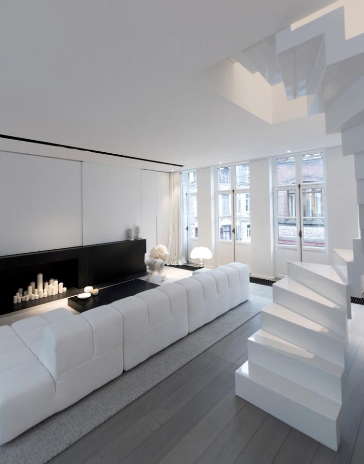 Dco salon blanc pour une atmosphre accueillante  80 ides