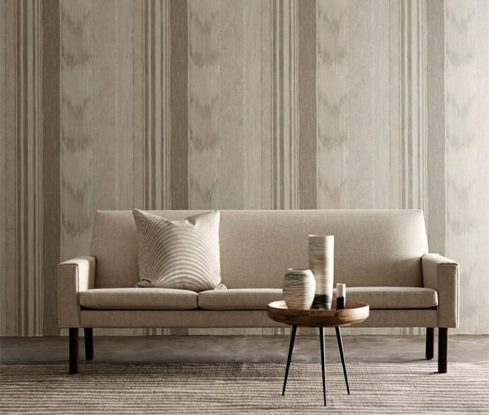 Papier peint design  texture fine dans la salle de sjour