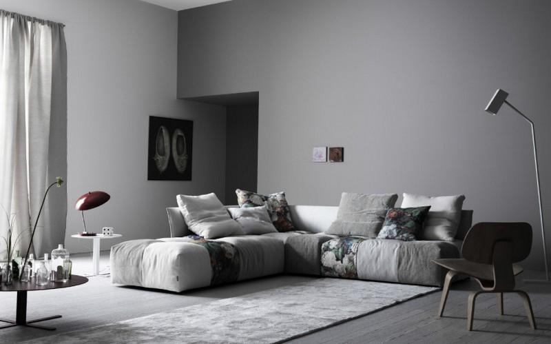 Canap gris  50 designs en nuances grises pour votre salon