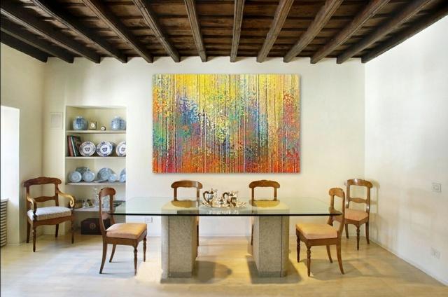 tableau art contemporain comme accent dans l interieur moderne