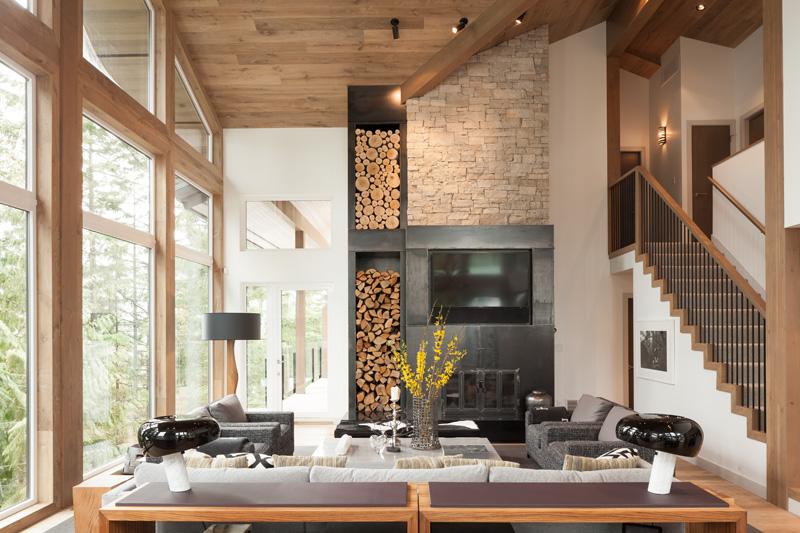 Amnagement intrieur moderne dune maison au Canada