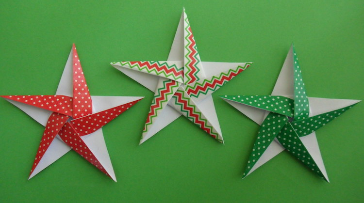 Noel Origami Good Les Dcorations De Nol Faire Soimme