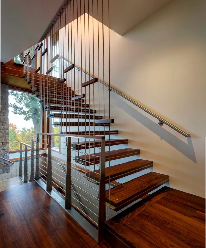 Escalier moderne  115 modles design tournants ou droits