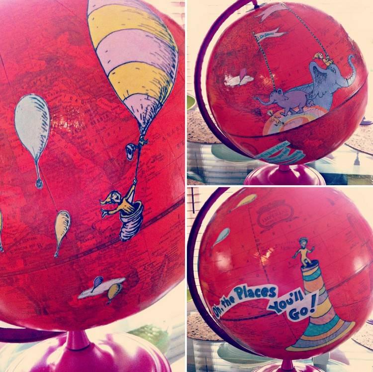 Ides de dcoration dintrieur avec un globe terrestre