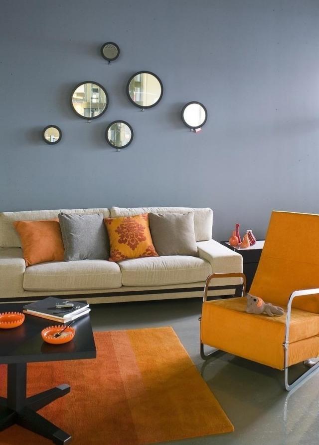 Wohnzimmer Orange Streichen