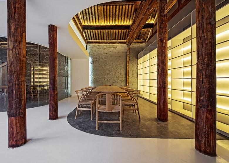Btiment transform en espace moderne rnovation maison