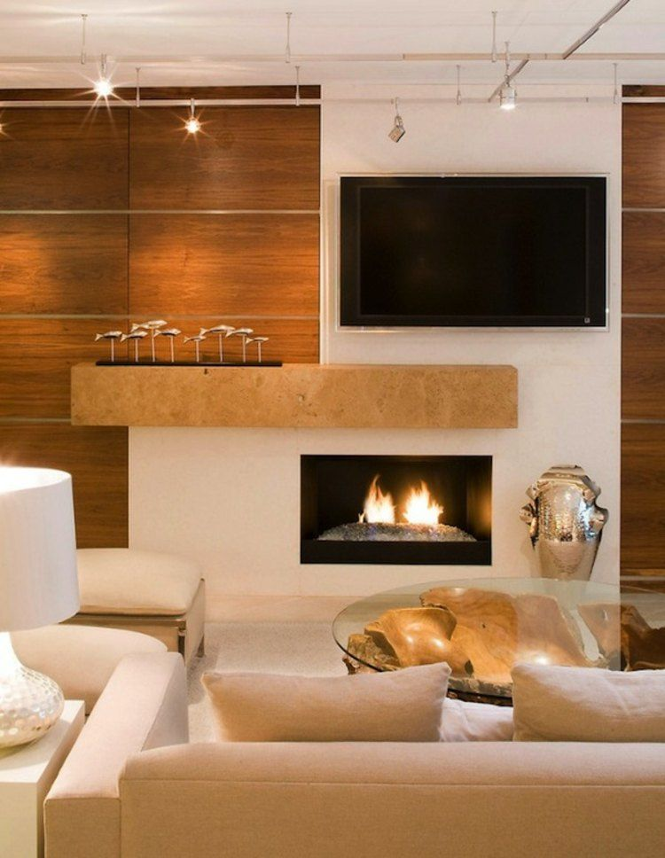 Fixation murale tv et chemine sur le mme mur en 39 ides