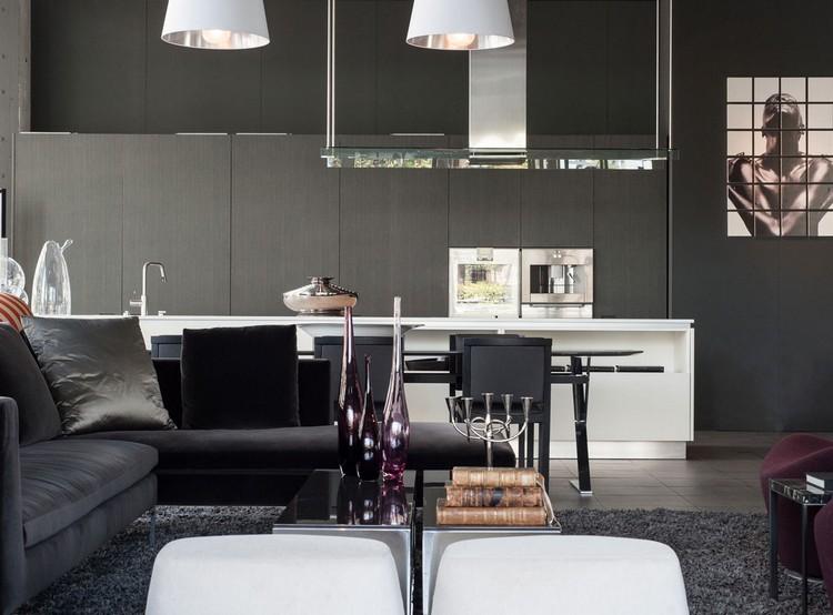 Salon Gris Blanc Noir Violet
