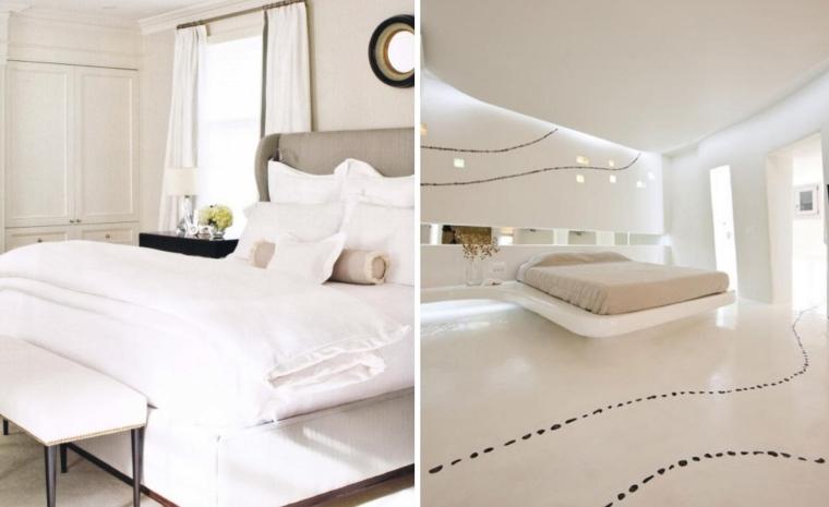 Chambre Blanche De Design Classique Ou Moderne Aux Accents