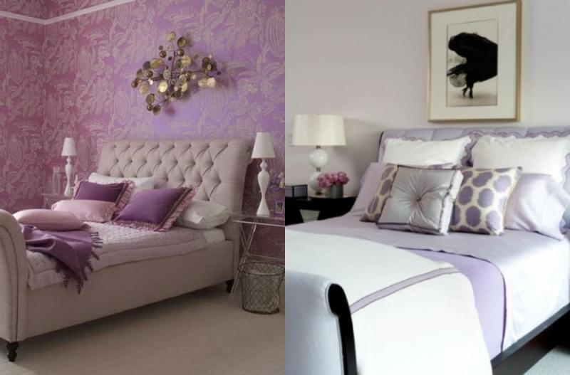 Couleur lilas et autres tons pastel pour dcorer la chambre