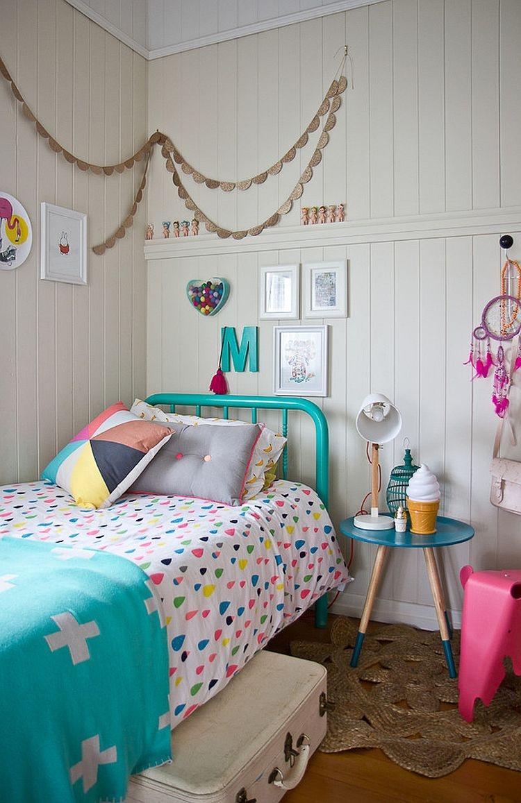 Bright Turquoise Wallpaper For Girls Room Couleur Chambre Enfant 35 Id 233 Es 224 Part La Peinture Murale