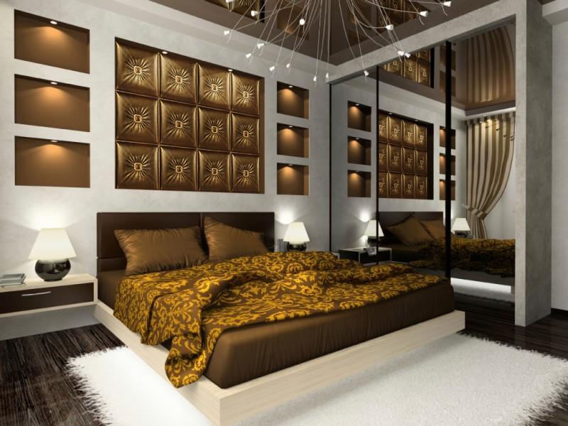 couleur de chambre moderne le marron