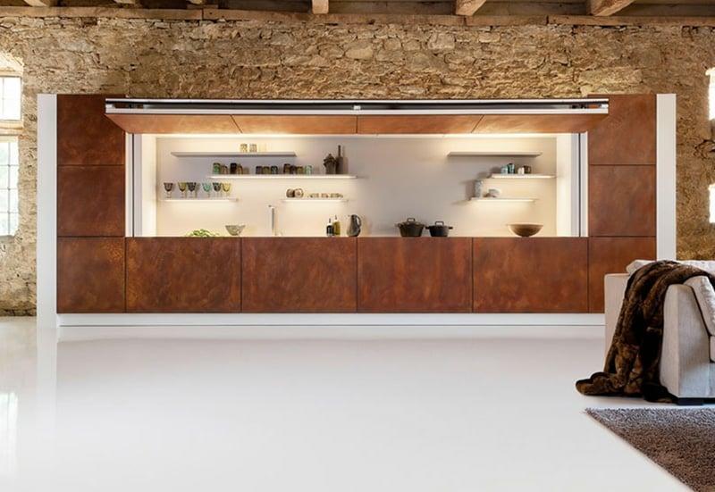meuble de cuisine blanc brillant