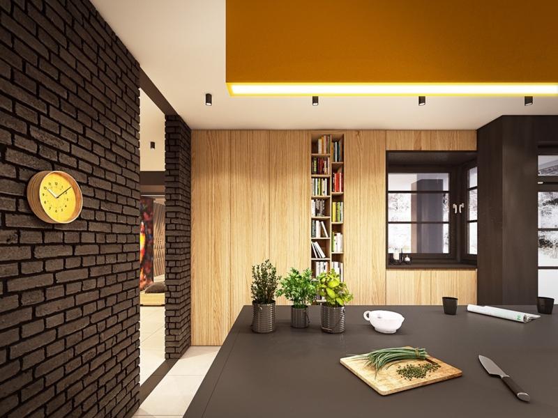 Dcoration colore accrocheur dans une maison contemporaine
