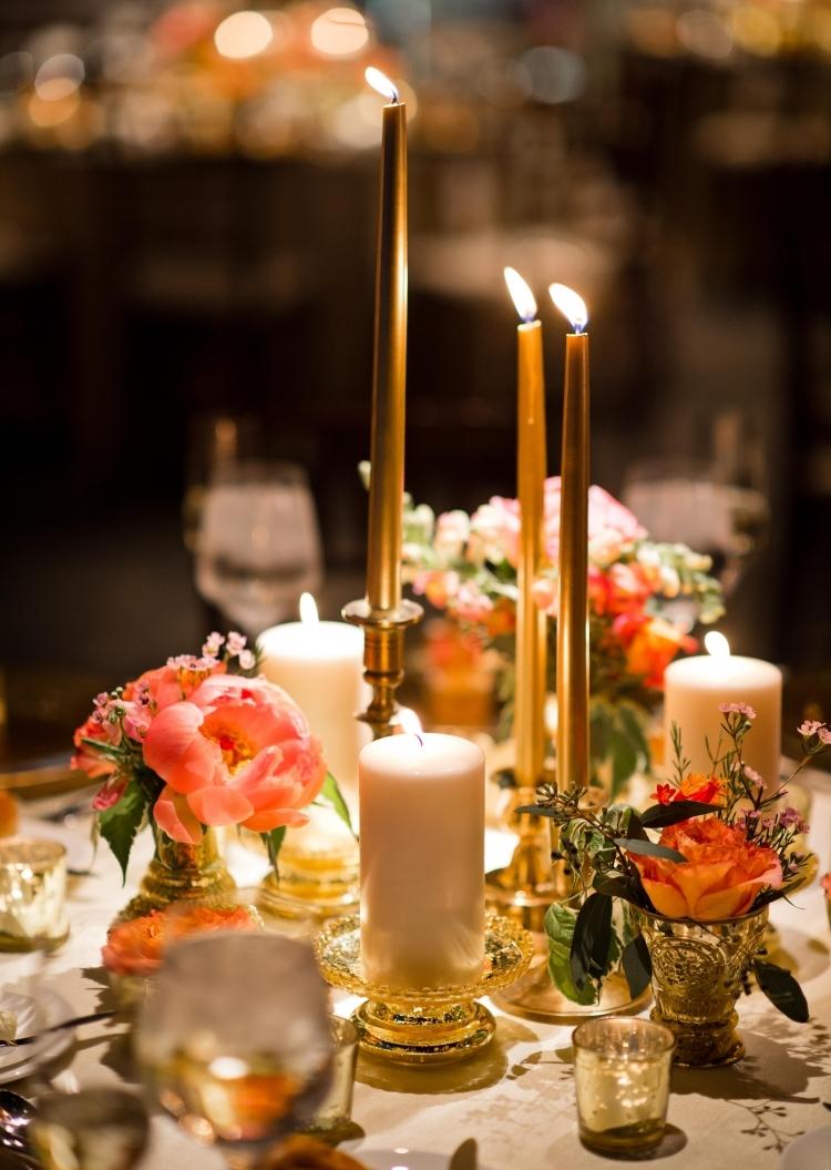 Dcoration De Table Automne Ides Avec Bougies Et Photophores