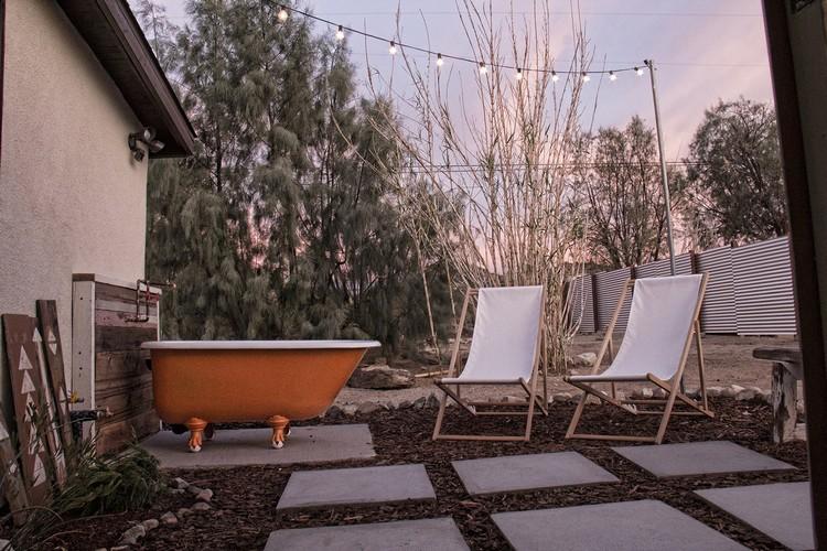 Intrieur style bohme  maison dans le dsert de Californie