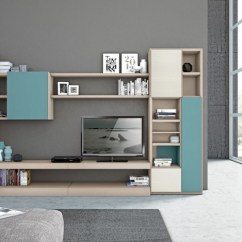 Showcase Designs Living Room Wall Mounted Center Table Set Meuble Mural Salon Offrant Beaucoup D'espace De Rangement