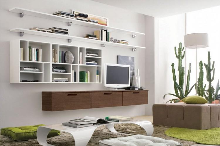 meuble mural salon offrant beaucoup d