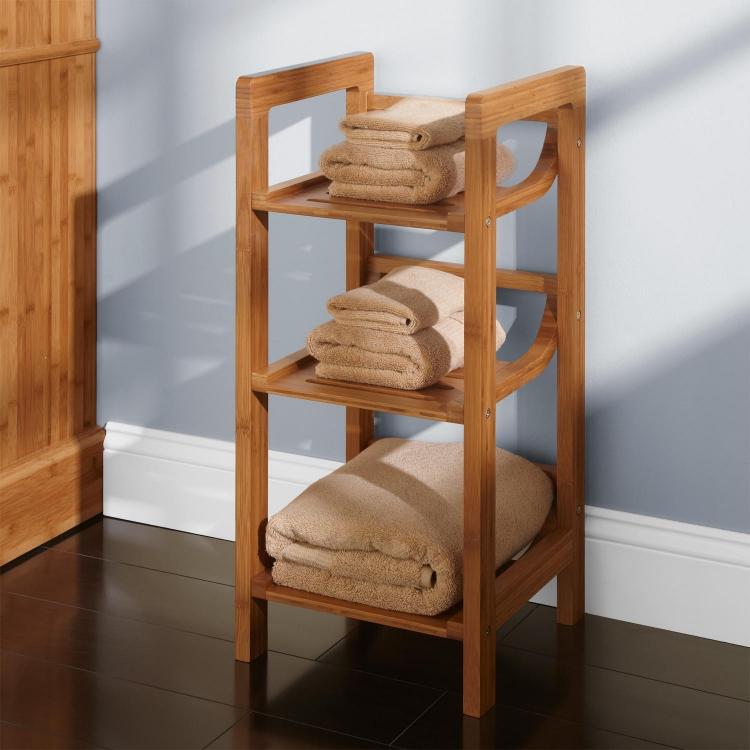 meuble salle de bain bambou et