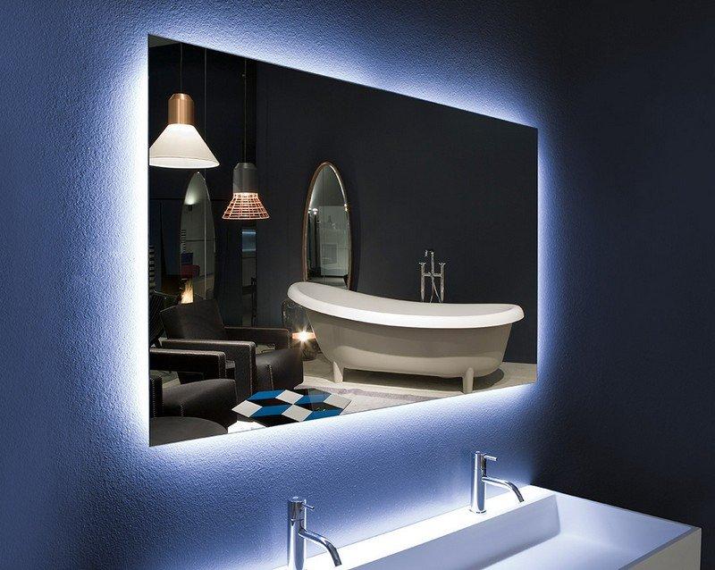 Miroir salle de bain lumineux et clairage indirect en 50 ides