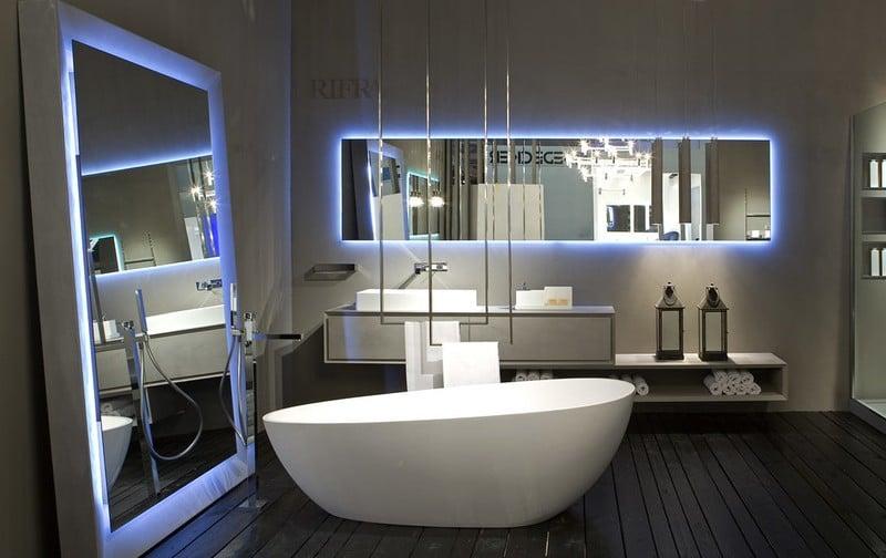 miroir salle de bain lumineux et