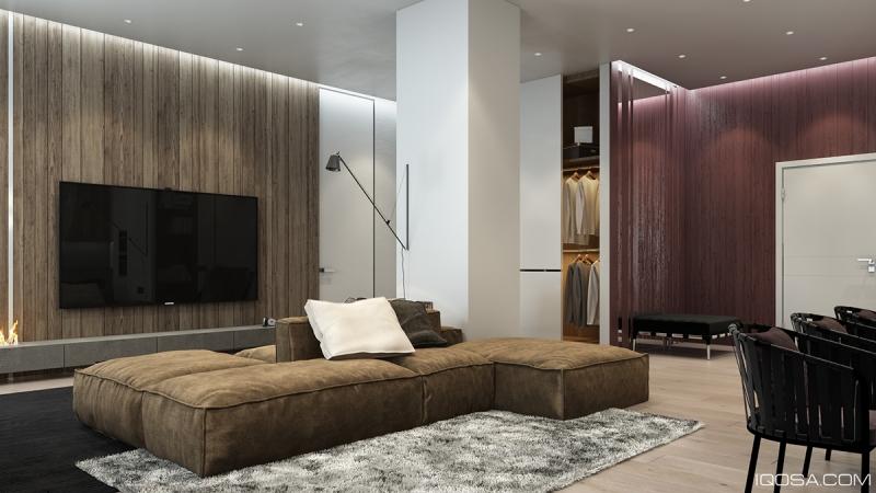 Parquet massif et panneau en bois dans 3 maisons design