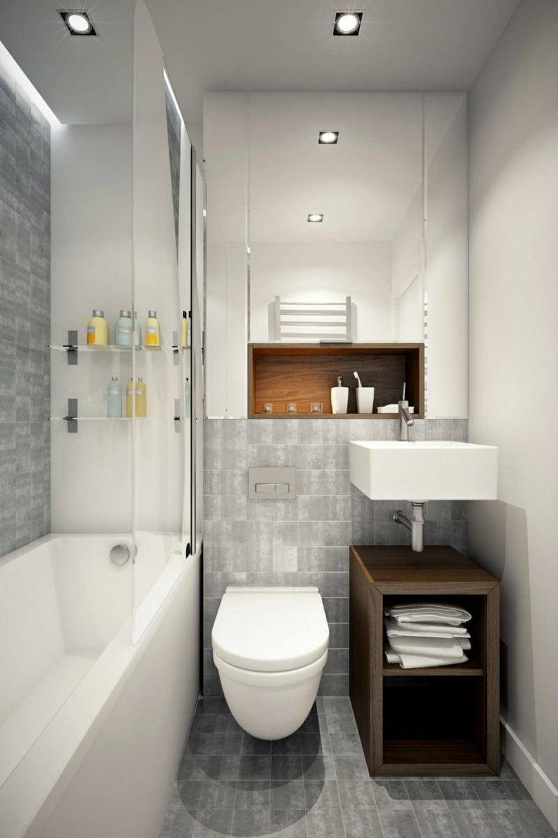 Petite salle de bains avec WC 55 ides de meubles et dco