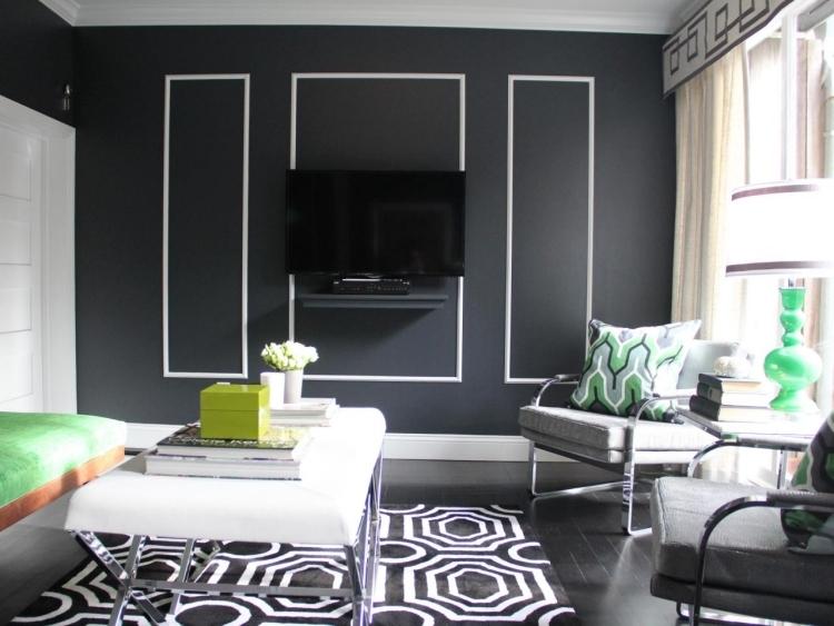 salon noir et blanc 25 inspirations