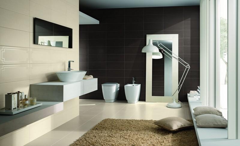 carrelage noir salle de bain. elegant great carrelage salle de ... - Salle De Bain Noir Et Beige