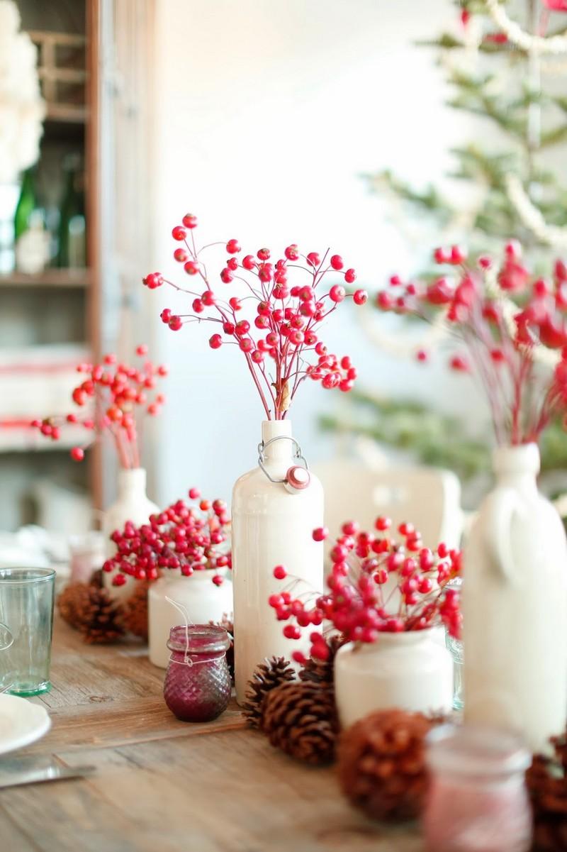 idées de meubles deco noel rouge et blanc chemin de table rouge noel
