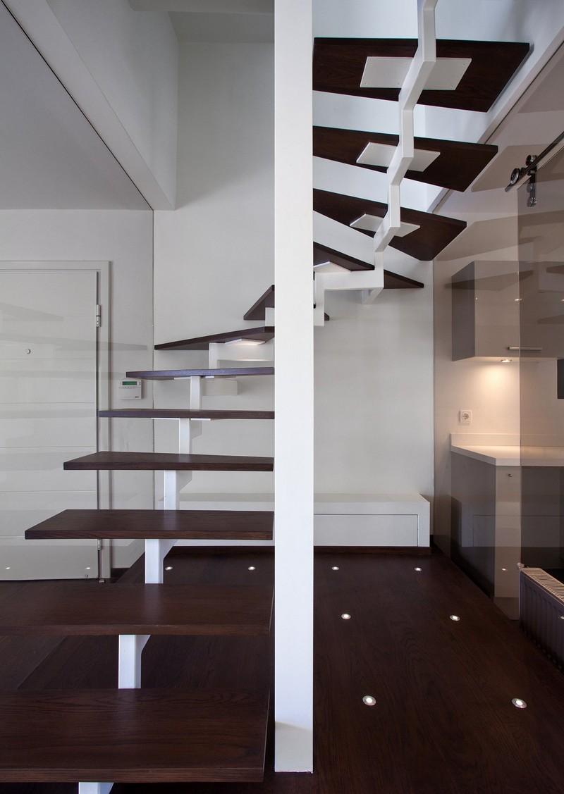 Escaliers en bois intrieur et extrieurides sur les designs