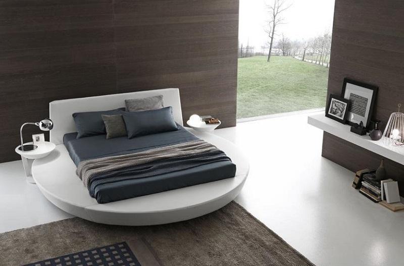 lit rond design pour la chambre adulte