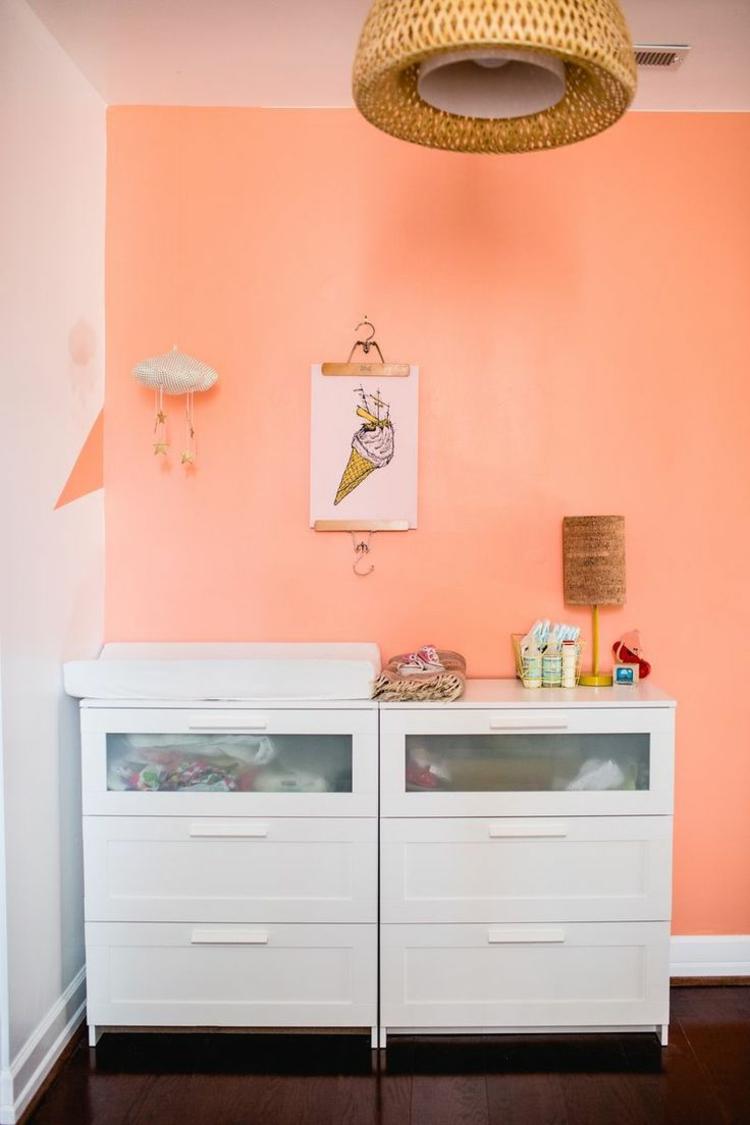 Orange pastel pour les murs en 35 ides  couper les souffle