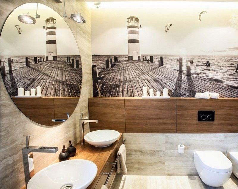 Salle de bain noir et blanc ou en tons contrasts en 40 ides