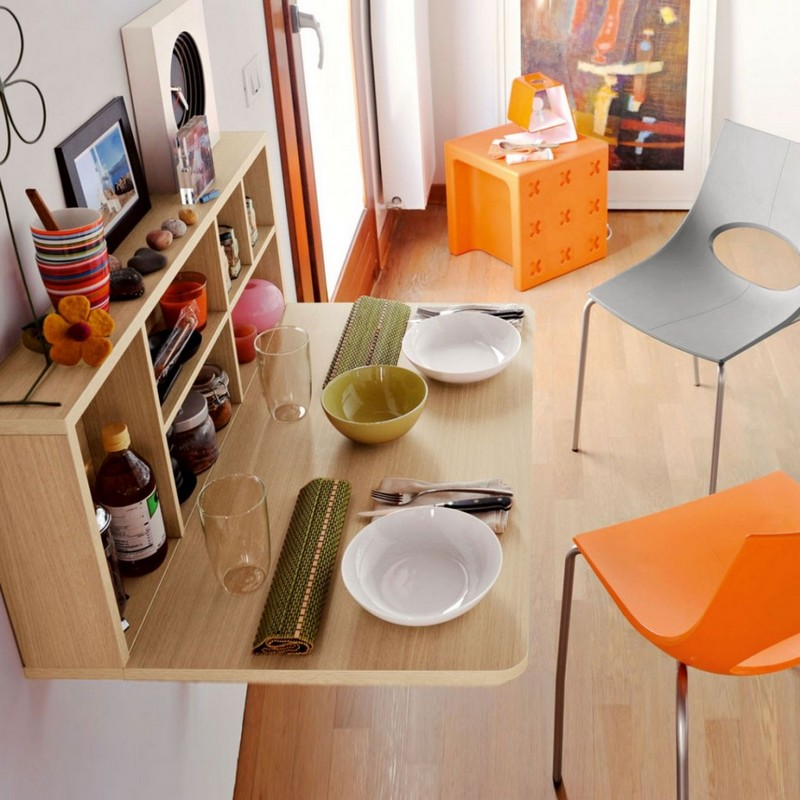 table de cuisine rabattable murale