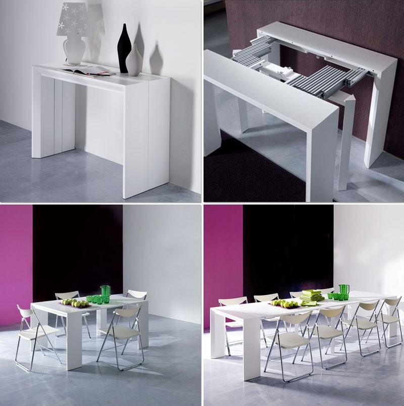 table de cuisine demi lune